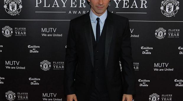 Manchester United interim manager Ryan Giggs arrives for the Manchester United Player of the year Awards at Old Trafford