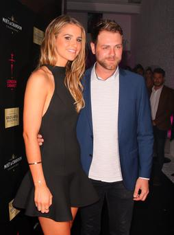 Brian McFadden and Vogue Williams attending the London Cabaret Club VIP opening night at the Collection in London
