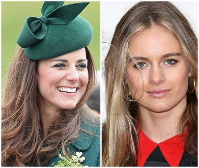 Kate Middleton (left) gave advice to Cressida Bonas (right)