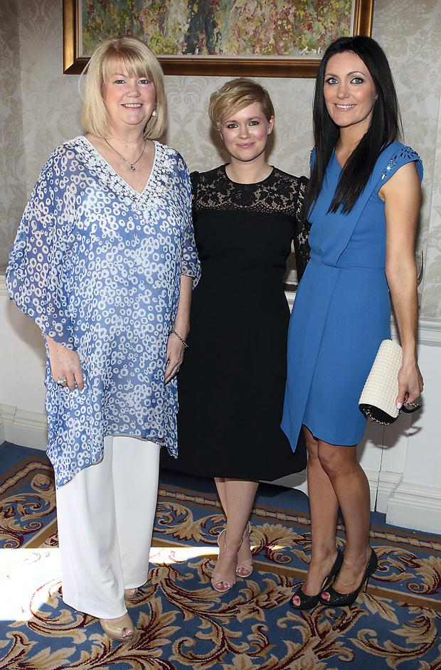 Miriam Ahern with daughters Cecelia Ahern and Georgina Byrne