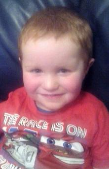 Eoin O'Neill (3) who was fatally injured in a crash in Co Monaghan