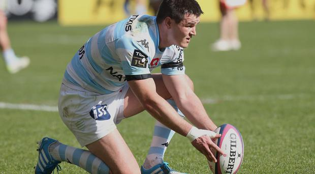 Jonathan Sexton of Racing Metro in action