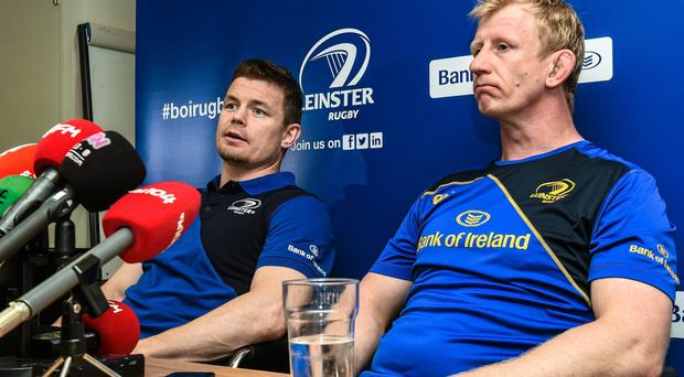 Leinster's Brian O'Driscoll, left, and Leo Cullen