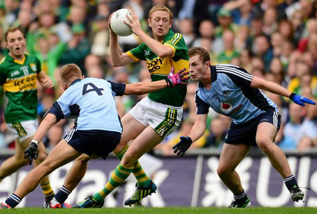 Colm Cooper in action for Kerry against Dublin last September
