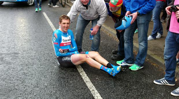 Daniel Martin has been taken aback by the support he has received since crashing on the opening day of the Giro d'Italia.