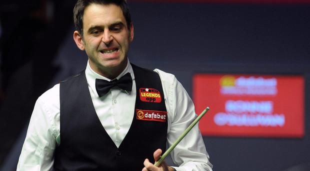 Ronnie O'Sullivan during the World Snooker Championships at the Crucible