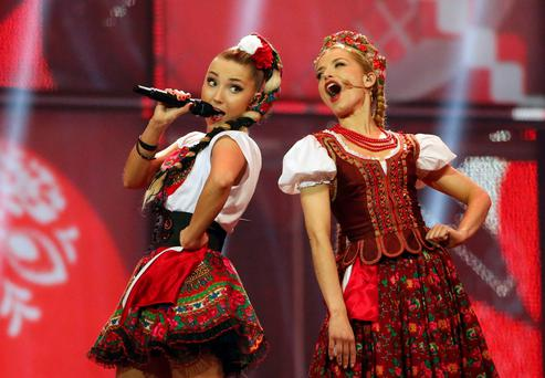 Donatan & Cleo representing Poland perform the song