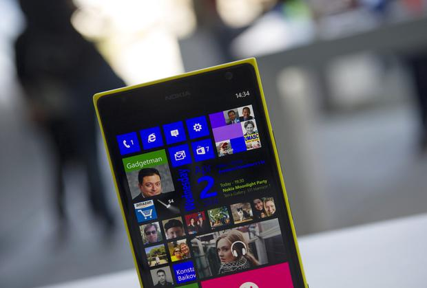 The Nokia Oyj Lumia 1520 smartphone. Microsoft currently has plans to phase out the Nokia name.