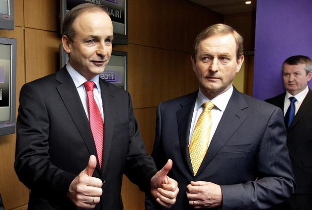 FF leader Micheal Martin and Taoiseach Enda Kenny