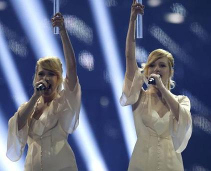 Russian twin act Tolmachevy sisters were booed throughout the contest