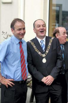 Sean Martin with his brother, Fianna Fail leader Micheal