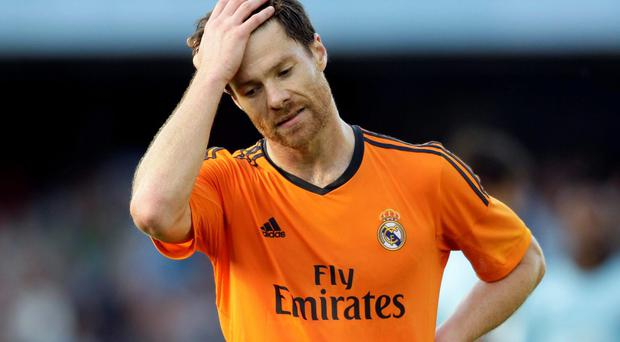 Xabi Alonso can't believe it as Real Madrid blow title hopes