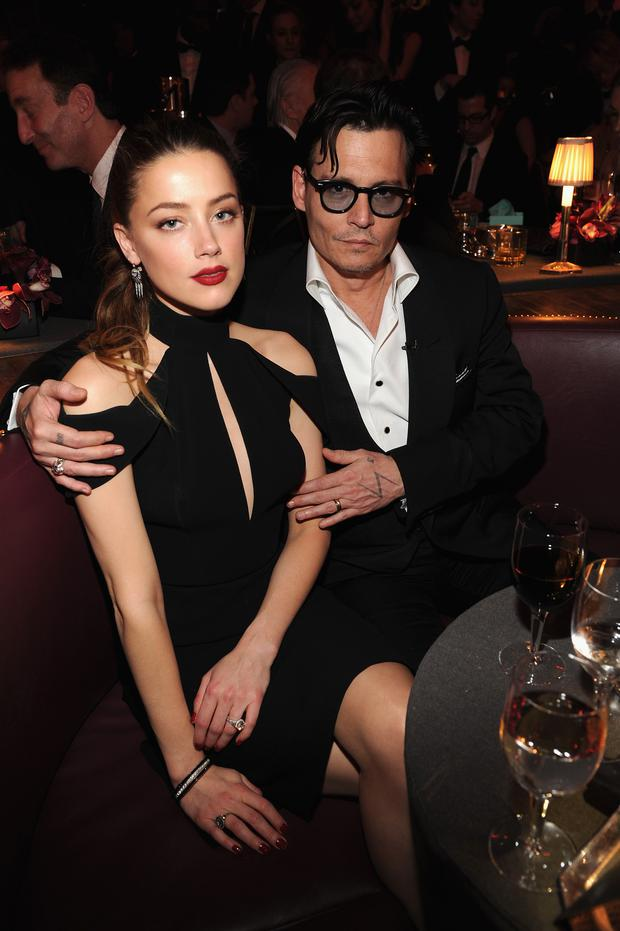 Actress Amber Heard and Johnny Depp