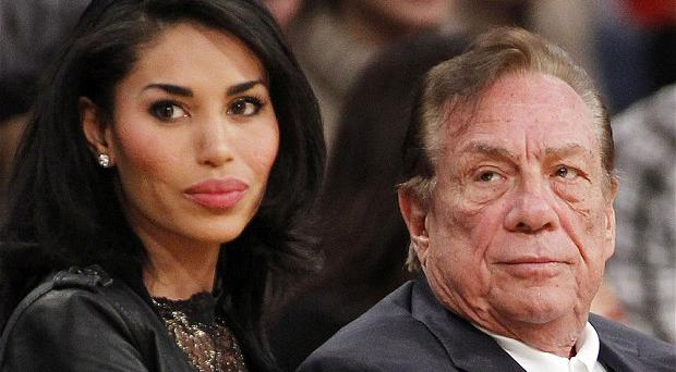 Donald Sterling, pictured with female friend V. Stiviano in 2010