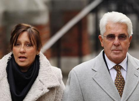 Jo Clifford, left, the wife of the disgraced publicist Max Clifford, right, is seeking a divorce after her husband was convicted for sex attacks