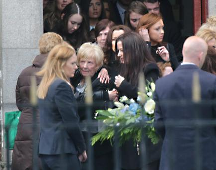 The Funeral of Christopher Zambra at Our Lady of Good Council, Drimnagh today.