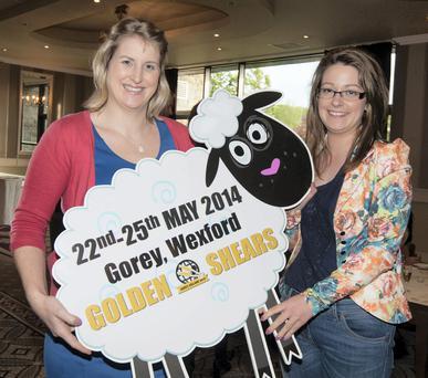 Making the cut: Catherine Roche, Irish Country Meats and Brid O'Neill of Golden Shears at the programme launch for the Golden Shears World Sheep Shearing and Wool Handling Championships Alf Harvey