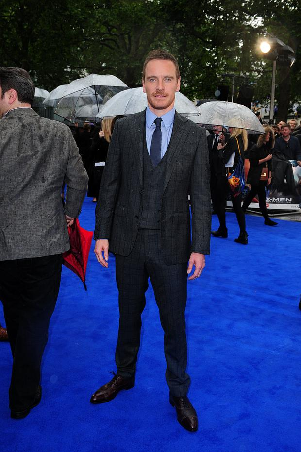 Michael Fassbender arriving at the X-Men Days of Future Past UK Premiere, at The West End Odeon, Leicester Square, London