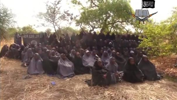 Kidnapped schoolgirls are seen at an unknown location in this still image taken from an undated video released by Nigerian Islamist rebel group Boko Haram