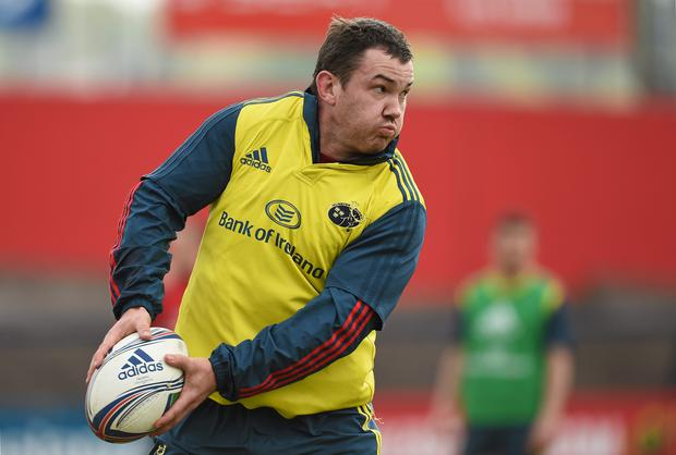 Munster's Damien Varley in action during squad training