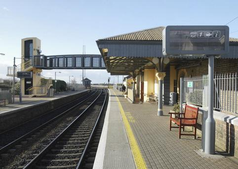 The incident happened at Skerries train station