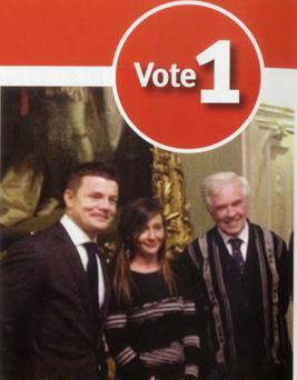 Brian O'Driscoll in image used by Cllr Jane Horgan Jones