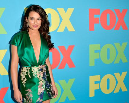 Actress Lea Michele attends the FOX 2014 Programming Presentation at the FOX Fanfront