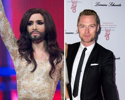 Conchita Wurst (left) and Ronan Keating are rumoured to be entering this year's Celebrity Big Brother house