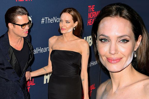 Angelina Jolie's powder mishap.