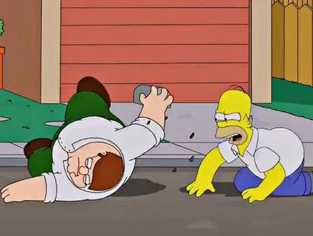 Homer Simpson and Peter Griffin fight over which beer is best in forthcoming special 'The Simpsons Guy'