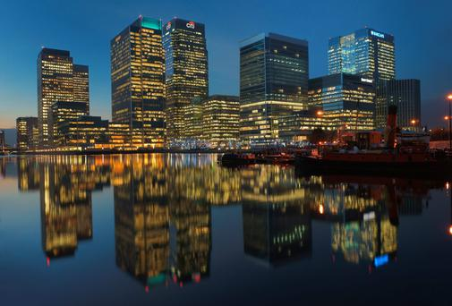 Canary Wharf, part of London's financial district