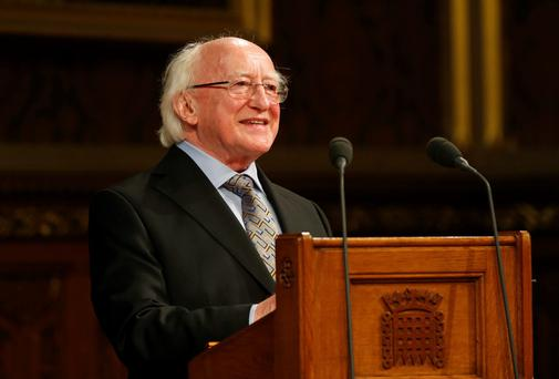 President Michael D. Higgins has close ties with Kenny's bookshop