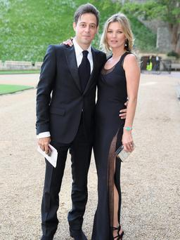 Kate Moss and Jamie Hince arrive for a dinner to celebrate the work of The Royal Marsden hosted by the Duke of Cambridge at Windsor Castle. Photo: Chris Jackson/PA Wire