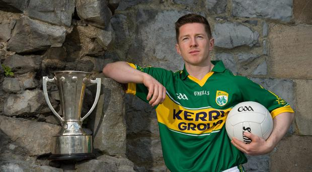 Kerry captain Kieran O'Leary - pictured at the launch of the 2014 Munster Senior Football Championship - says the break between games will the team time to work out where they went wrong in the league campaign. Photo: Diarmuid Greene / SPORTSFILE