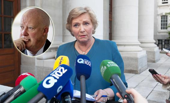 Justice Minister Frances Fitzgerald and (inset) Brian Purcell