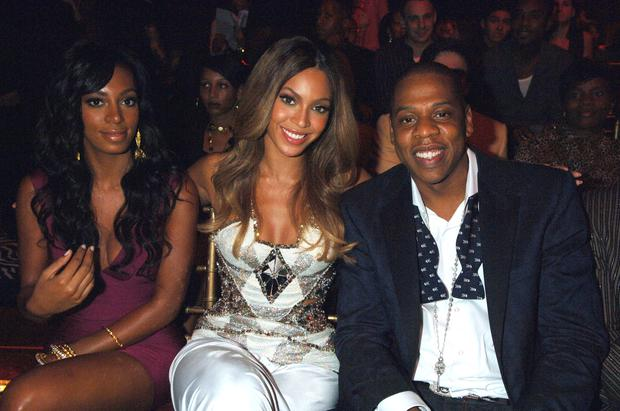 Solange, Beyonce and Jay Z during 2006 MTV Video Music Awards