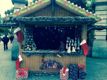 The Christmas grotto at St Stephen's Green this morning Pic: Cliodhna Russell/Twitter