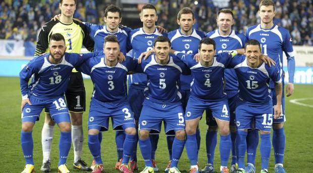 The Bosnian national team. Photo: Getty Images
