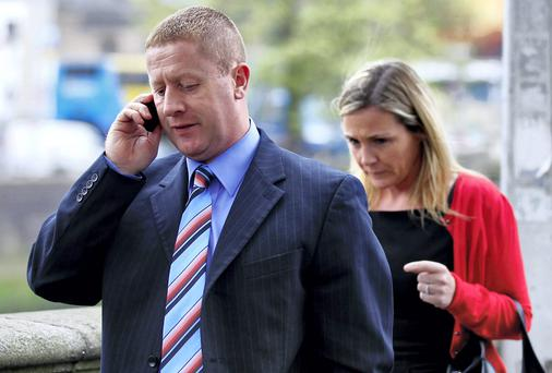 Stephen and Karen Costello leaving court yesterday