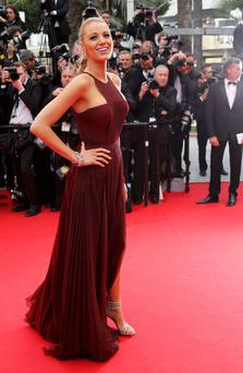 Actress Blake Lively on the red carpet as she arrives for the opening ceremony of the Cannes Film Festival. Picture: Reuters/Regis Duvignau