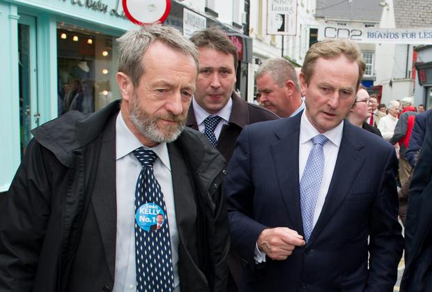 Sean Kelly MEP on the hustings with Enda Kenny recently