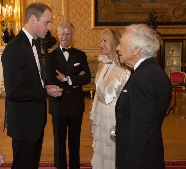 Prince William, Duke of Cambridge, Ralph Lauren and Royal Marsden Chairman Ian Molson attend a dinner to celebrate the work of The Royal Marsden hosted by the Duke of Cambridge