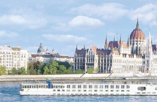 The River Beatrice in the heart of Budapest