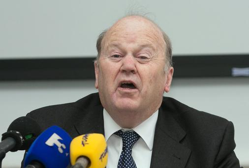 15/05/2014 Minister for Finance Michael Noonan at Government Buildings, Dublin yesterday. Photo: Gareth Chaney Collins