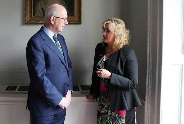 Barry O'Leary, CEO, IDA Ireland and Louise Phelan, President of the American Chamber. Picture: Jason Clarke Photography