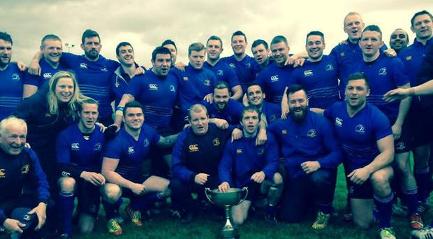 The Leinster Juniors side that lifted the McGee Cup after their draw with Ulster..