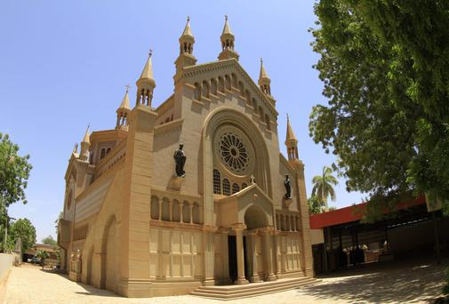 St. Matthew's Catholic Cathedral near the Sudanese capital Khartoum. A Sudanese judge sentenced a Christian woman to hang for apostasy, despite appeals by Western embassies for compassion and respect for religious freedom