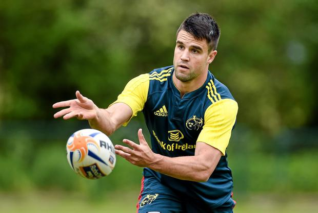Conor Murray in action during squad training