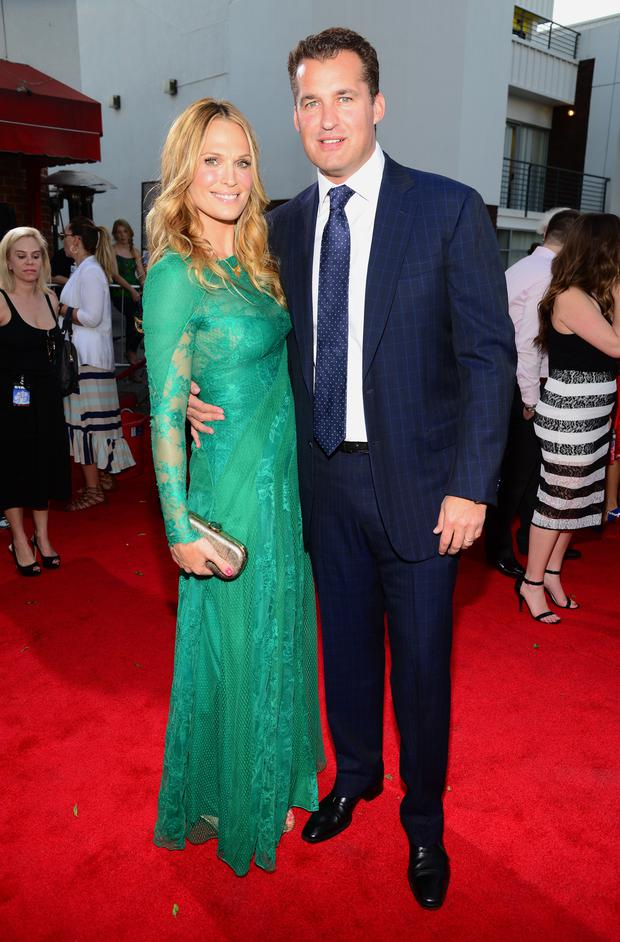 Actress Molly Sims and producer Scott Stuber attend the premiere of Universal Pictures and MRC's