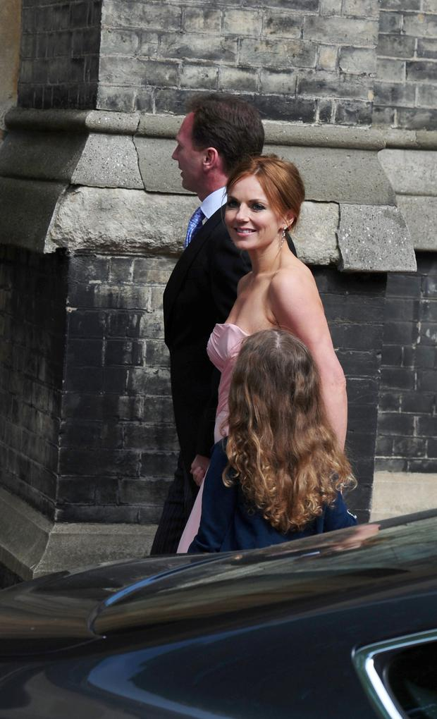Geri Halliwell and Christian Horner. Photo: Ian West/PA Wire